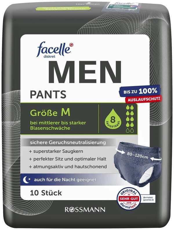 facelle diskret Hygiene Pants MEN Größe M