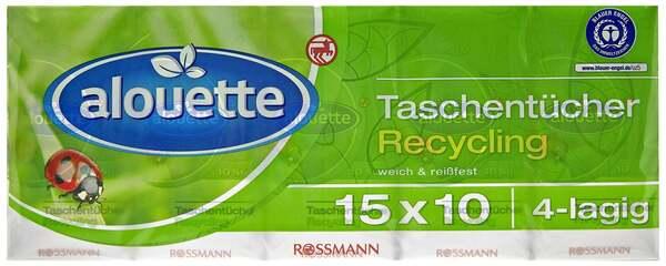 alouette Taschentücher Recycling