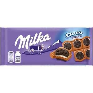 Milka Oreo Sandwich auf Alpenmilch Schokolade