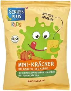 GENUSS PLUS Kids Bio Mini-Kräcker mit Karotte und Kürbis