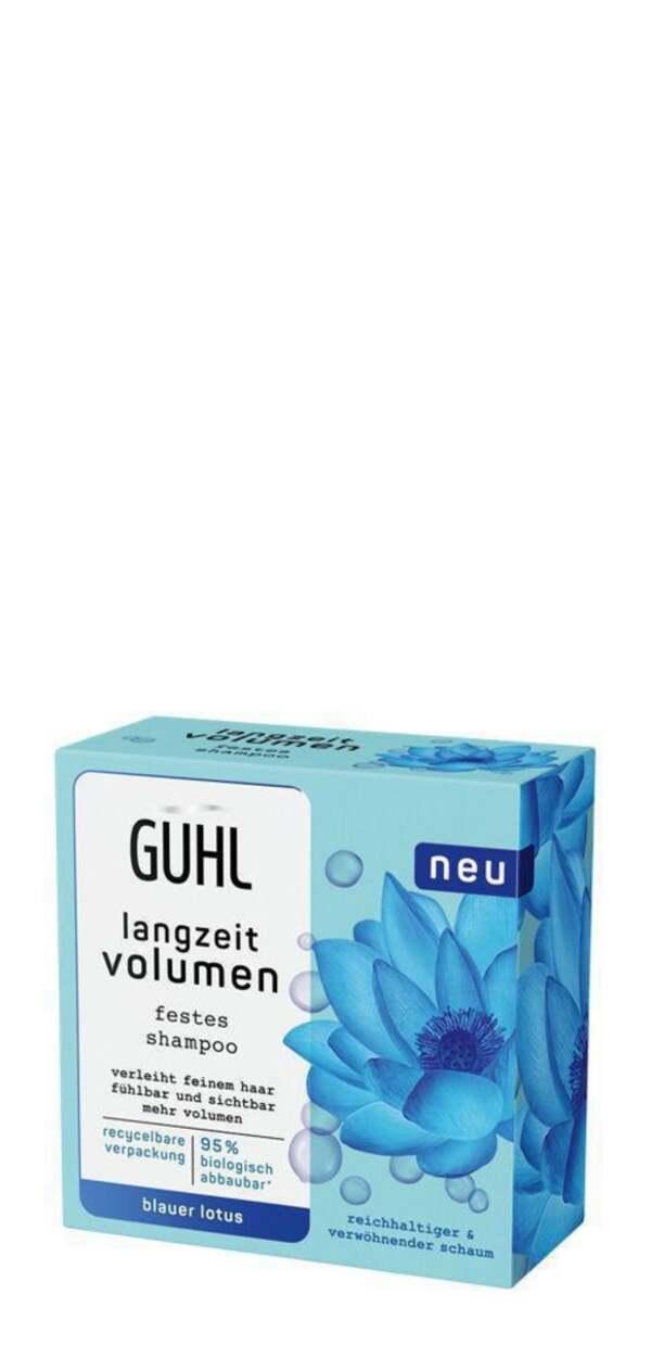 Guhl Festes Shampoo langzeit volumen Blauer Lotus