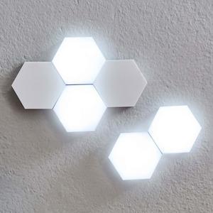 Hexagon-Touch-Lichter zum Kombinieren, ca. 9x9cm, 6-teilig