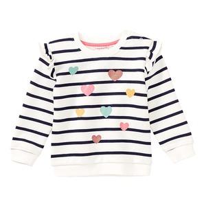 Baby-Mädchen-Sweatshirt mit Glitzerherzen