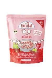 FruchtBar Bio Frühstücks-Herzen Hafervollkorn, Erdbeere, Traube, Apfel