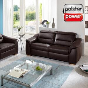 polsterpower 2,5-Sitzer - braun - Leder - Basismodell
