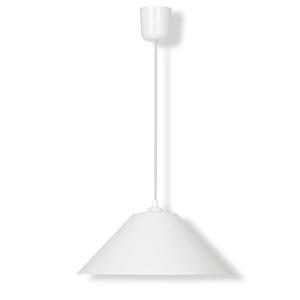 Pendelleuchte - weiß - Kunststoff - Ø 31 cm