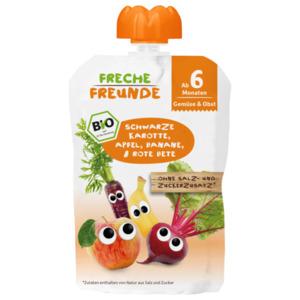 Freche Freunde Bio Schwarze Karotte, Apfel, Banane & Rote Beete 100g