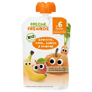 Freche Freunde Bio Karotte, Apfel, Kürbis & Banane 100g