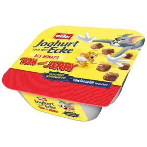 Müller Joghurt mit der Ecke Tom und Jerry Haselnuss Waffelwürfel 140g