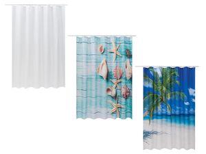 MIOMARE® Duschvorhang, 180 x 200 cm, mit Ringen