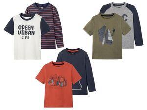 LUPILU® Kleinkinder Shirts Jungen, 2 Stück, mit Baumwolle