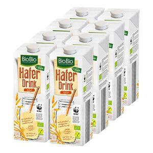 BioBio Haferdrink pur 1 Liter, 8er Pack