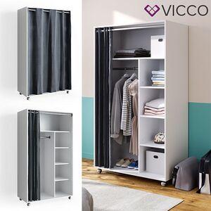 VICCO mobiler Kleiderschrank DOROS auf Rollen Dielenschrank offen Garderobe