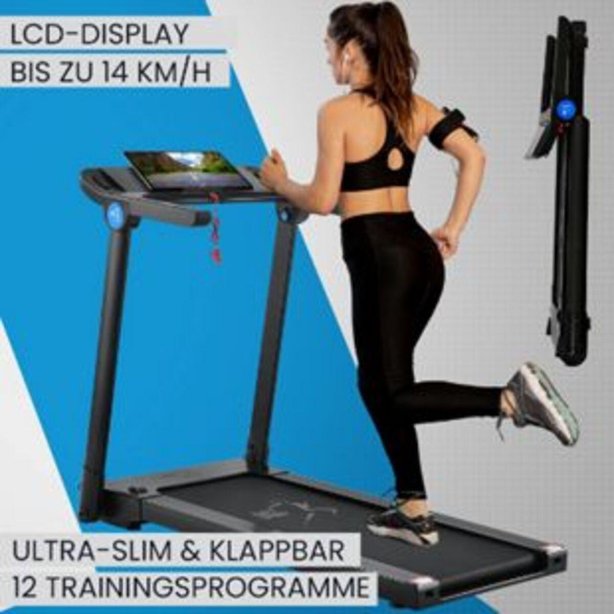 Bild 2 von ArtSport Ultra Slim Laufband SR1418 klappbar - große Lauffläche 120x44 cm - 14 km / h - 12 Programme