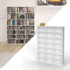 VICCO Medienregal JUKEBOX weiß matt CD DVD Bluray Regal Standregal Regalwand