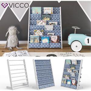 VICCO Kinderregal Weiß Kinderzimmerregal Spielzeugregal Bücherregal Hängefächerregal-Weiß