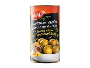 Grüne Oliven mit Sardellenfüllung