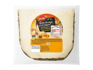 Schafskäse mit Rosmarin-Rinde, am Stück