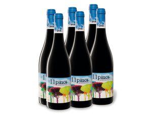 6 x 0,75-l-Flasche Weinpaket 11 pinos Bobal Old Vines DO trocken, Rotwein
