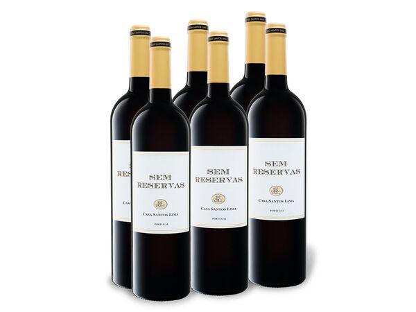 6 x 0,75-l-Flasche Weinpaket Sem Reservas Vinho Regional Lisboa, Rotwein