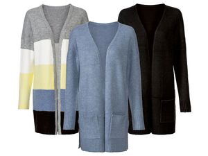 ESMARA® Strickcardigan Damen, offene, legere Form