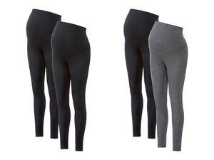 ESMARA® Leggings Damen, 2 Stück, aus Bio-Baumwolle und Elasthan