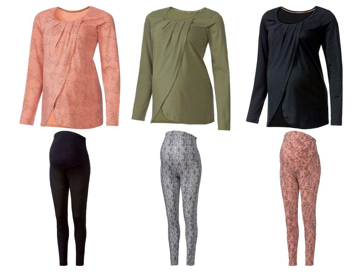 Bild 1 von ESMARA® Umstandspyjama, mit bauchbedeckender Hose, mit Bio-Baumwolle