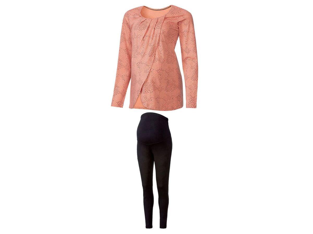 Bild 2 von ESMARA® Umstandspyjama, mit bauchbedeckender Hose, mit Bio-Baumwolle