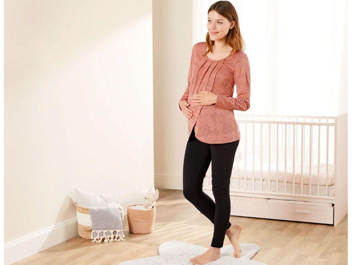 Bild 3 von ESMARA® Umstandspyjama, mit bauchbedeckender Hose, mit Bio-Baumwolle