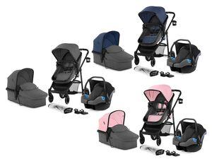 Kinderkraft 3in1 Kinderwagen »Rome«, Travel System mit Kinderwagen, Babywanne und Autositz