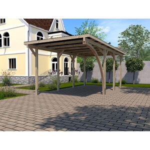 """Weka              Carport """"Gr.2"""" Rundbogen 300x600 cm"""