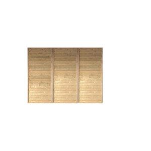 """Karibu              Rückwand, KDI Einzel-⁄Doppelcarport """"PUR """", Höhe 200 cm, Breite 250 cm"""