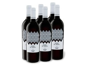 6 x 0,75-l-Flasche Weinpaket Poggio Maru Nero di Troia Puglia IGP, Rotwein