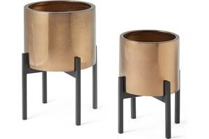 2 x Gia Pflanzstaende, Bronze - MADE.com