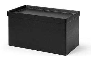 Clover Brotbox, schwarz gebeiztes Akazienholz - MADE.com