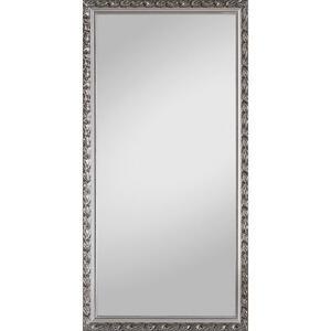 Carryhome Wandspiegel silberfarben , Pius , Glas , vollmassiv , 100x200 cm , lackiert,beschichtet,Echtholz , senkrecht und waagrecht montierbar , 001415008101