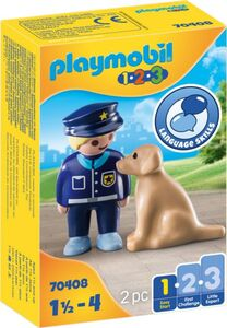 Playmobil® 70408 - Polizist mit Hund - Playmobil® 1-2-3