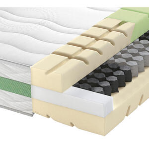 Schlaraffia Taschenfederkernmatratze road 290 tfk comfeel plus 100/200 cm , Road 290 TFK Comfeel Plus , Weiß , Textil , H2=mittel bis ca.80kg , 100x200 cm , Doppeltuch , Härtegradauswahl, Über- un