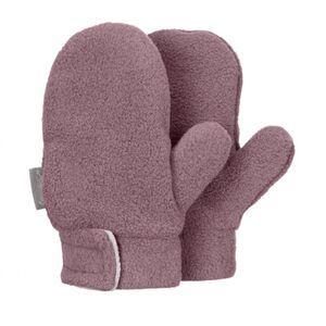 Babyfäustel - Handschuhe - pflaume meliert. - Gr. 001