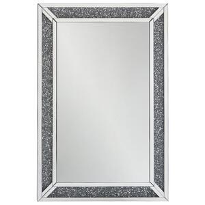 Xora Wandspiegel silberfarben , Denver , Glas , 80x120x4 cm , lackiert,verspiegelt,Nachbildung , senkrecht und waagrecht montierbar , 001047012201