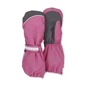 Stulpen-Handschuh - magenta meliert - Gr. 004
