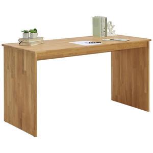 Linea Natura Schreibtisch eiche massiv eichefarben , Easy , Holz , 140x75x65 cm , geölt,Echtholz , 001402000210