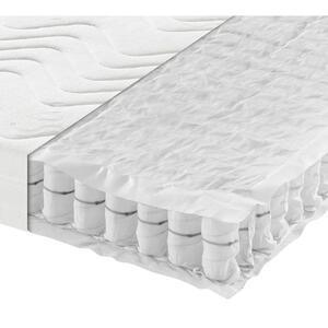 Sleeptex Taschenfederkernmatratze 100/200 cm , Komfort MED T , Weiß , Textil , H4=sehr fest ab ca.100kg , 100x200 cm , Doppeltuch , Härtegradauswahl, Bezug abnehmbar/waschbar, Ober- und Unterseite