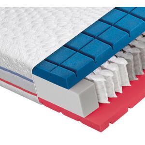 Dieter Knoll Taschenfederkernmatratze 80/200 cm , Aqua Cool TF 1000 , Weiß , Textil , H2=mittel bis ca.80kg , 80x200 cm , Doppeltuch , Über- und Sondergrößen erhältlich, Bezug abnehmbar/waschbar