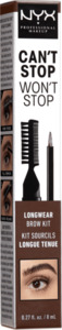 NYX PROFESSIONAL MAKEUP Augenbrauenstift Can't Stop Won't Stop Longwear Brow Ink Kit Brunette 06