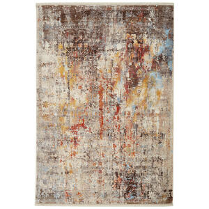 Esposa Vintage-teppich 200/285 cm grau, multicolor , Samarkand , Textil , Abstraktes , 200x285 cm , rutschfest, strapazierfähig , 003095001772