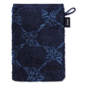 Joop! Waschhandschuh dunkelblau , 1611 Joop! Classic Cornflower , Textil , 16x22 cm , Frottee , saugfähig, Aufhängeschlaufe, strapazierfähig, durchgefärbt , 003367024921