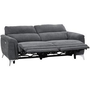 Livetastic Sofa webstoff grau, chromfarben , Padua , Textil , 2-Sitzer , 215x97x97 cm , verchromt,Webstoff , Relaxfunktion , 002424002801