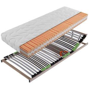 Carryhome Matratzenset 120/190 cm , SET Sina-Ks , Holzwerkstoff , Birke , Schichtholz , H2=mittel bis ca.80kg , 120x190 cm , Echtholz , Härtegradauswahl, Bezug abnehmbar/waschbar, optimale Belüftun