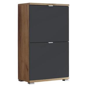 Xora Schuhschrank schwarz, eichefarben , Colorado , Metall , 53x91x30 cm , Nachbildung , Typenauswahl , 001258007644